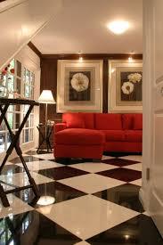 bedroom ideas tropical checkered floor