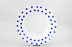 <b>Тарелка глубокая</b> 24 см ф. <b>Идиллия</b> рис. Горошек синий ...
