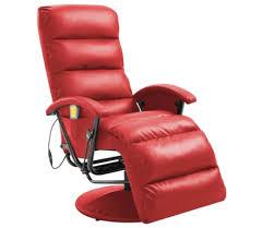 vidaXL <b>TV</b> Massage <b>Recliner Red Faux</b> Leather | vidaXL.ie