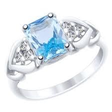 «Серебряное <b>кольцо</b> с <b>топазом</b> 3 <b>4</b> 12 арт. 92011503 ...