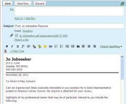 How To Send A Cv And Cover Letter By Email Gallery Cover Letter