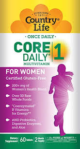 Country Life Core 1 Daily Multivitamin for Women ... - Amazon.com