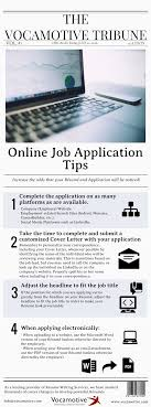 online job application tips for the job seeker vocamotive the tribune vol 1