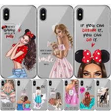 <b>Fashion</b> Girls <b>Super Mom Baby</b> Dad Phone Case For iPhone XS ...