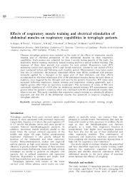 E€ects of respiratory <b>muscle training</b> and <b>electrical</b> stimulation of ...