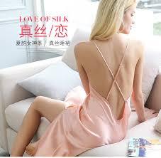 2019 Summer <b>100</b>% <b>Genuine Silk</b> Women <b>Nightgown 100</b>% <b>Real</b> ...