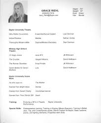 dancer resume objective examples the best and impressive dance resume examples collections how to awesome outstanding acting resume sample to