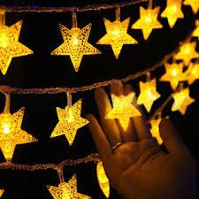 kcasa christmas <b>3m</b> 20 lights five-pointed star <b>outdoor decorative</b> ...