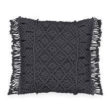 <b>Чехол для подушки из</b> макраме sparta антрацит La Redoute ...
