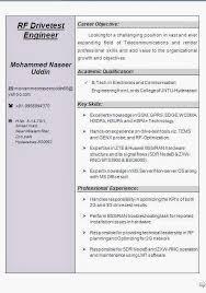 rf engineer resume samples template telecom resume examples