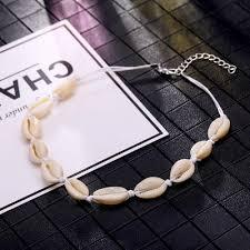 <b>New Fashion</b> Black Rope Chain <b>Natural</b> Seashell Choker Necklace ...