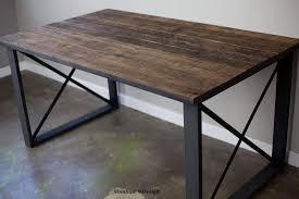 dining tabledesk vintage industrial mid century reclaimed wood urban awesome custom reclaimed wood office desk