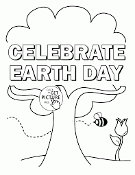 Small Picture Celebrate Earth Day coloring page for kids coloring pages