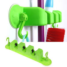 pc kitchen wall mounted  in  kitchen mop broom holder wall mounted organizer hanger towel hook