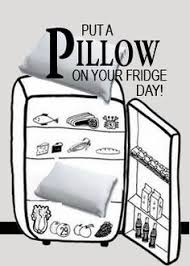 Image result for put a pillow on your fridge day