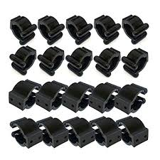 12 pieces regular fishing pole rod holder storage clips rack 2 style 6 pcs each style big for hold handle small you