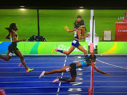 Image result for allyson felix and runner who dived