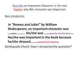 Romeo and Juliet By William Shakespeare  Essay question  Describe     SlidePlayer Make it more interesting Make a statement which sums up what you want to say