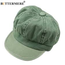 buttermere women newsboy cap british vintage baker boy hat cotton leather patchwork female male autumn winter 2019 new army