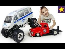 <b>Машинки</b> Газель ДПС с огромными колесами Делаем Монстр ...