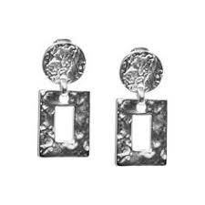 <b>Покрытые</b> серебром клипсы Square drop - купить за 16 990 руб. в ...