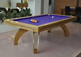 pool table dining tables: etrusco p pool table natural cherry with matching legs purple cloth