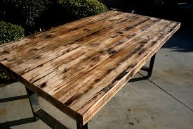 long wood dining table: make your own long rectangle reclaimed wood dining table with metal stand diy burned reclaimed