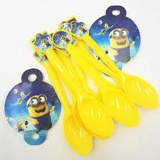 <b>10pcs</b> Minions Party Decoration <b>Kids Disposable</b> Plastic <b>Children's</b> ...