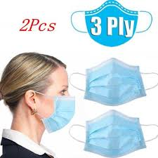 <b>100pcs Disposable NonWoven</b> Safety Earloop Face <b>Mask</b> Anti-Fog ...