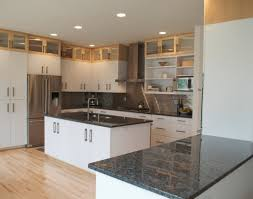 kitchen cabinets with granite countertops: kitchen exotic dark granite countertops with white cabinets for contemporary design ideas moen kitchen faucets