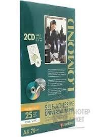 Бумага Lomond 2101013 <b>Наклейки</b> для <b>CD</b>/ <b>DVD</b>, 25л., белые