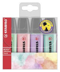 <b>Маркер</b> текстовый <b>STABILO Boss pastel</b>, 4 цвета