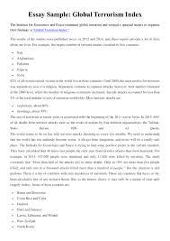 essay sample global terrorism index