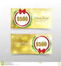 christmas gift voucher card template red ribbon element stock christmas gift voucher card template red ribbon element