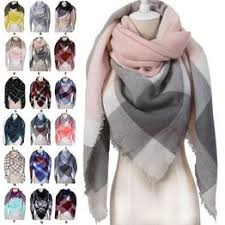 Designer 2019 knitted spring winter women scarf plaid warm ... - Vova