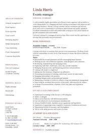 editor cv events manager cv management resume format