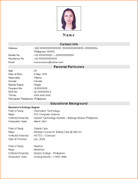 examples of resumes example simple filipino resume expense 9 example of simple filipino resume expense report template for 89 exciting example of a simple resume