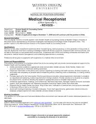 medical receptionist resume examples resume examples  resume