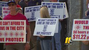 police fire workers ask city of raleigh for pay raise com