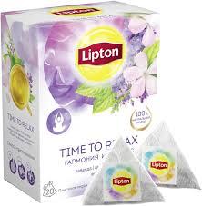 Чай в пирамидках <b>Lipton</b> Time to Relax, травяной, с <b>лавандой</b> ...