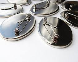 <b>Oval</b> brooch back | Etsy