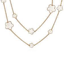 Bling Jewelry White Cream Clover Flower Long Rose ... - Amazon.com