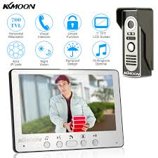 KKmoon Visual Intercom Doorbell <b>7</b>'' <b>TFT LCD Wired</b> Video Door ...
