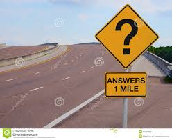 question mark road sign answers mile to success stock photo question mark road sign answers 1 mile to success