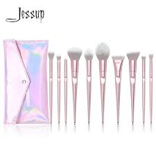 New Arrival Jessup brushes <b>10pcs Pink Makeup</b> brushes set <b>beauty</b> ...