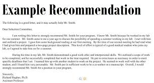 Letter Recommendation Sample Templates