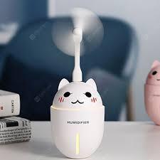 320ML 3 in 1 Mini Cartoon Cat <b>Humidifier</b> with <b>USB</b> Night Light Sale ...