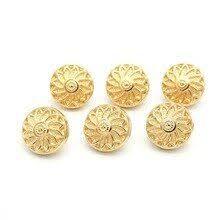 <b>50pcs High</b>-<b>grade</b> Buttons for Clothing Fashion Golden 10mm ...
