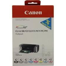 Комплект оригинальных <b>картриджей Canon CLI</b>-42BK, <b>CLI</b>-42C ...