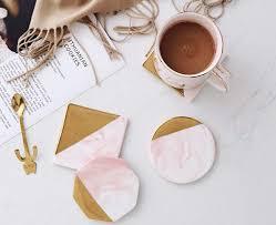 Marble Gold <b>Coasters</b> Ceramic <b>Coaster</b> Tea Cup Pad Table <b>Mat</b> ...